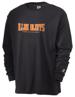 Illini Bluffs Elementary School Tigers  Russell Men's Long Sleeve T-Shirt