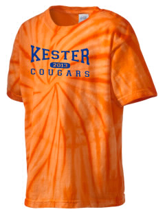 Kester School Cougars Kid's Tie-Dye T-Shirt