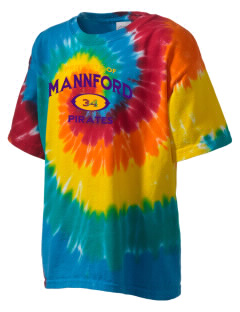 Mannford Elementary School Pirates Kid's Tie-Dye T-Shirt