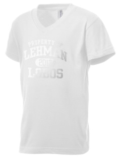 Lehman High School Lobos Kid's V-Neck Jersey T-Shirt