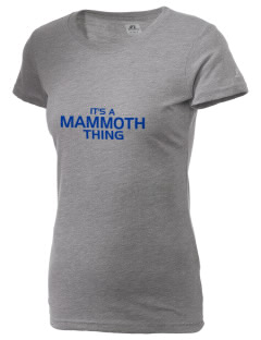 Mammoth Elementary School Husky Pups  Russell Women's Campus T-Shirt
