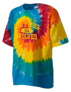 Paul H Huber Middle School Wolves Kid's Tie-Dye T-Shirt
