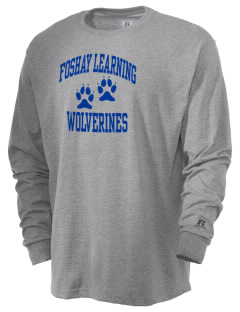 Foshay Learning Center Wolverines  Russell Men's Long Sleeve T-Shirt