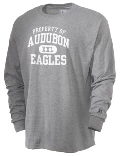Audubon Junior High School Eagles  Russell Men's Long Sleeve T-Shirt