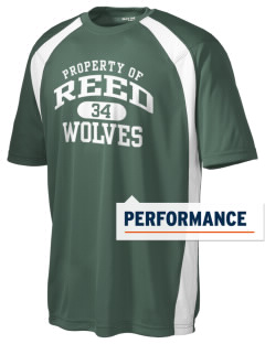Reed Middle School Wolves Men's Dry Zone Colorblock T-Shirt