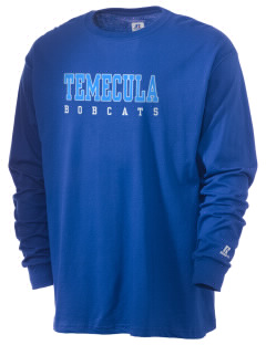Temecula Middle School Bobcats  Russell Men's Long Sleeve T-Shirt