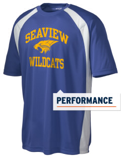 Seaview Elementary School Wildcats Men's Dry Zone Colorblock T-Shirt