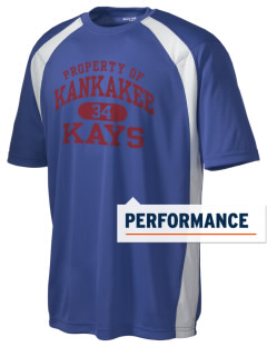Kankakee Junior High School Warriors Men's Dry Zone Colorblock T-Shirt