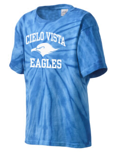 Cielo Vista Elementary School Eagles Kid's Tie-Dye T-Shirt