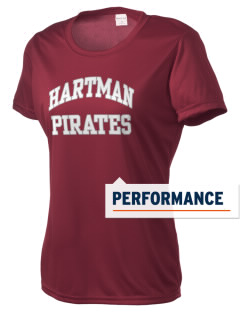 Hartman Middle School Pirates Women's Competitor Performance T-Shirt