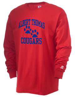 Albert Thomas Middle School Cougars  Russell Men's Long Sleeve T-Shirt