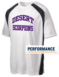 Desert High School Scorpions Men's Dry Zone Colorblock T-Shirt
