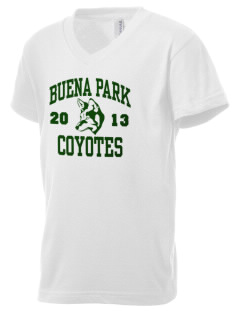 Buena Park High School Coyotes Kid's V-Neck Jersey T-Shirt