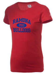 Ramona High School Bulldogs  Russell Women's Campus T-Shirt