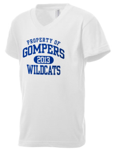 Gompers Secondary School Wildcats Kid's V-Neck Jersey T-Shirt