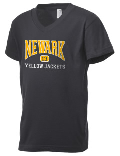 Newark High School Yellow Jackets Kid's V-Neck Jersey T-Shirt