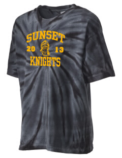 Miami Sunset High School Knights Kid's Tie-Dye T-Shirt