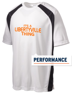 Libertyville High School Wildcats Men's Dry Zone Colorblock T-Shirt