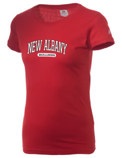 New Albany High School Bulldogs  Russell Women's Campus T-Shirt
