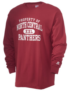 North Central High School Panthers  Russell Men's Long Sleeve T-Shirt