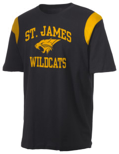 Saint James High School Wildcats Holloway Men's Rush T-Shirt