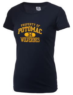 Potomac High School Wolverines  Russell Women's Campus T-Shirt