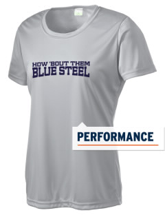 Christopher Columbus High School Blue Steel Women's Competitor Performance T-Shirt