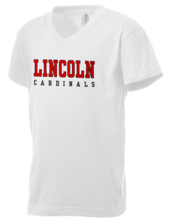 Lincoln High School Cardinals Kid's V-Neck Jersey T-Shirt