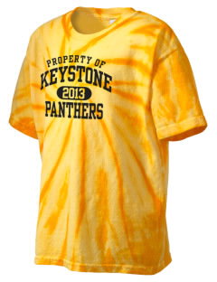 Keystone High School Panthers Kid's Tie-Dye T-Shirt