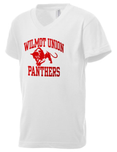Wilmot Union High School Panthers Kid's V-Neck Jersey T-Shirt