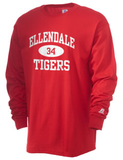 Ellendale Elementary School Tigers  Russell Men's Long Sleeve T-Shirt