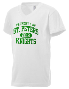 Saint Peters School Knights Kid's V-Neck Jersey T-Shirt
