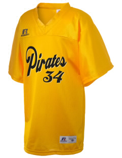 Cannel City Elementary School Pirates Russell Kid's Replica Football Jersey