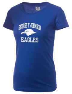 George F Johnson Elementary School Eagles  Russell Women's Campus T-Shirt