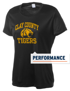 Clay County High School Tigers Women's Competitor Performance T-Shirt