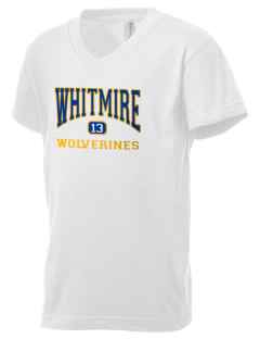 Whitmire High School Wolverines Kid's V-Neck Jersey T-Shirt
