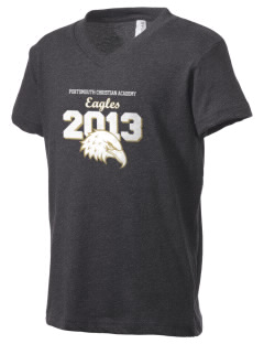 Portsmouth Christian Academy Eagles Kid's V-Neck Jersey T-Shirt