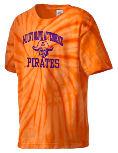 Mount Olive Attendence Center Pirates Kid's Tie-Dye T-Shirt