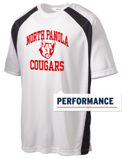 North Panola High School Cougars Men's Dry Zone Colorblock T-Shirt
