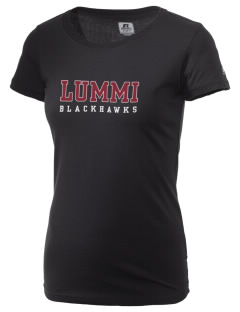 Lummi Nation School Blackhawks  Russell Women's Campus T-Shirt