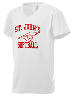 Saint John's Lutheran School Patriots Kid's V-Neck Jersey T-Shirt