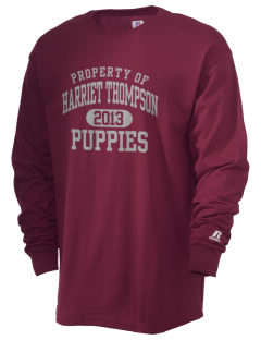 Harriet Thompson Elementary School Puppies  Russell Men's Long Sleeve T-Shirt