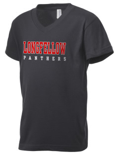 Longfellow Elementary School Panthers Kid's V-Neck Jersey T-Shirt