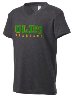 Robert L Olds Junior High School Spartans Kid's V-Neck Jersey T-Shirt