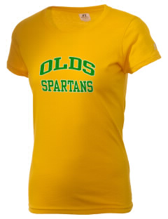 Robert L Olds Junior High School Spartans  Russell Women's Campus T-Shirt