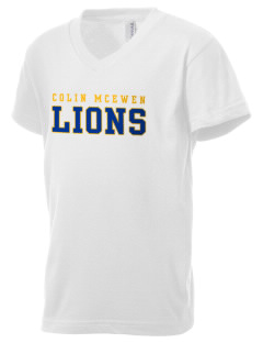 Colin McEwen High School Lions Kid's V-Neck Jersey T-Shirt