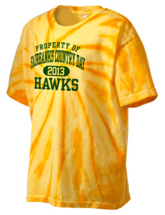 Fairbanks Country Day School Hawks Kid's Tie-Dye T-Shirt