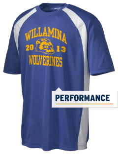 Willamina Middle School Wolverines Men's Dry Zone Colorblock T-Shirt