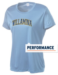 Willamina Middle School Wolverines Women's Competitor Performance T-Shirt