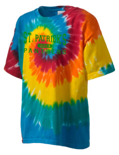Saint Patrick's School Panthers Kid's Tie-Dye T-Shirt